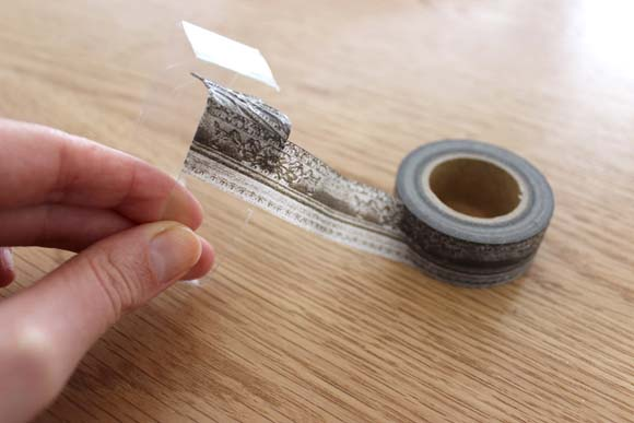 reouvrir le bracelet de masking tape