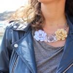 DIY : Un collier camélia pastel | Pastel camellia necklace