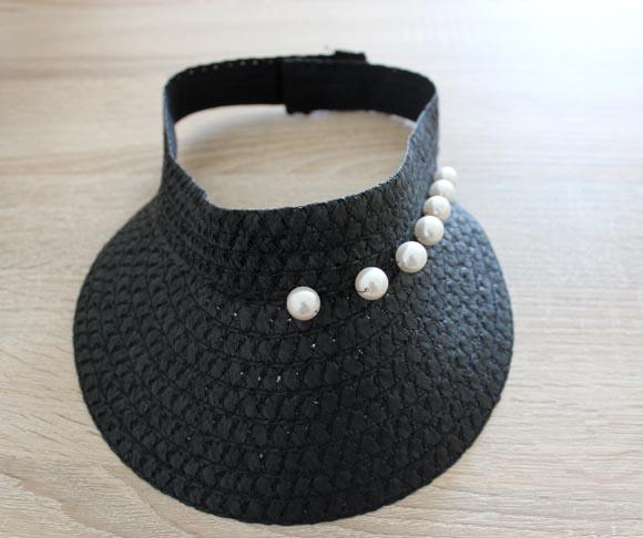 customiser une visiere avec des perles CHIC ilovedoityourself5