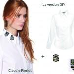 DIY Inspiration : La chemise blanche à écusson marin Claudie Pierlot