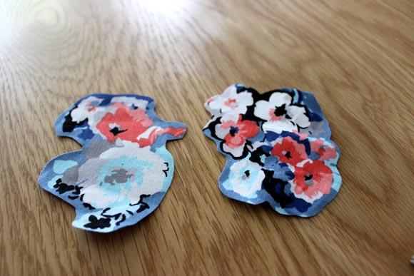 teddy dentelle applique de fleurs DIY3