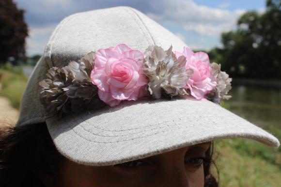diy casquette fleurie