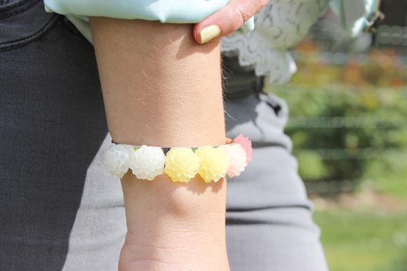 DIY bracelet rose pastel2