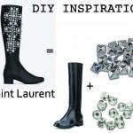 DIY Inspiration : Les bottes Saint Laurent