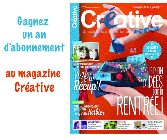 concours i love diy x creative gagnez un an d abonnement au magazine cr ative blog mode bon. Black Bedroom Furniture Sets. Home Design Ideas
