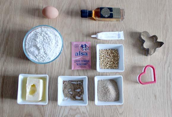 ingredient pour petits biscuits de noel