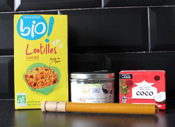 ingredients soupe lentilles corail