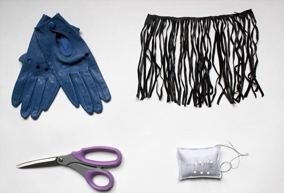 materiel diy gants franges