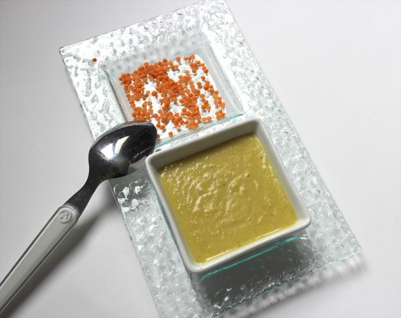 soupe repas lentilles corail lait de coco