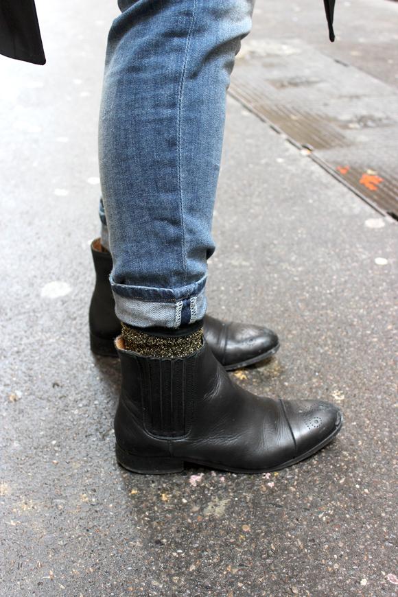 boots eram chaussettes a paillettes