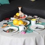 DIY : Une table de goûter pour la fête des mères + Des fruits en forme d'animaux