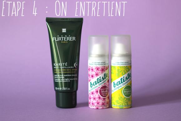 crème de nuit karité furterer shampoing sec batiste