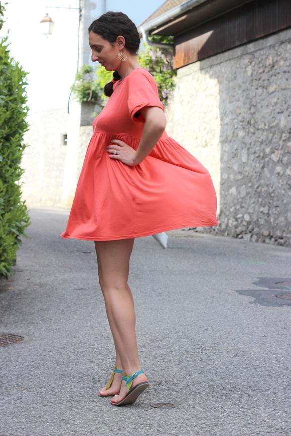 robe corail boohoo sandale ma sandale blog mode ilovediy