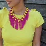 DIY : Le collier franges et pompons