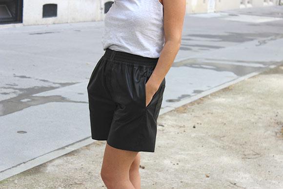 pantalon-zara-découpé-en-short-diy