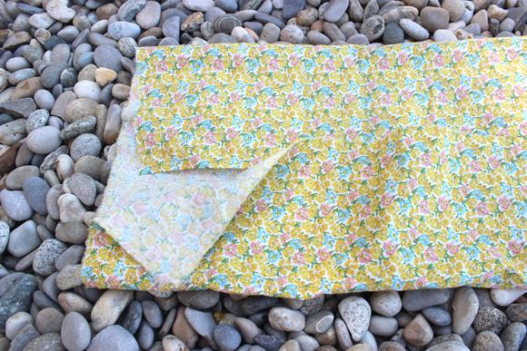 pliage du tissu pour customiser son panier