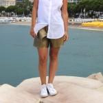 DIY : Le short doré en skaï