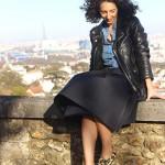 Look jupe midi #2 : Slip-on et perfecto