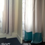 DIY : Rallonger des rideaux trop courts