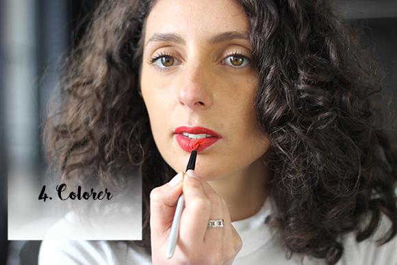 utiliser un pinceau à lèvres