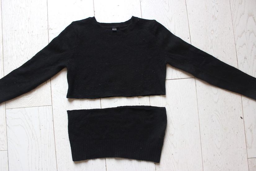diy le pull crop chemise blog mode bon plans et diy. Black Bedroom Furniture Sets. Home Design Ideas