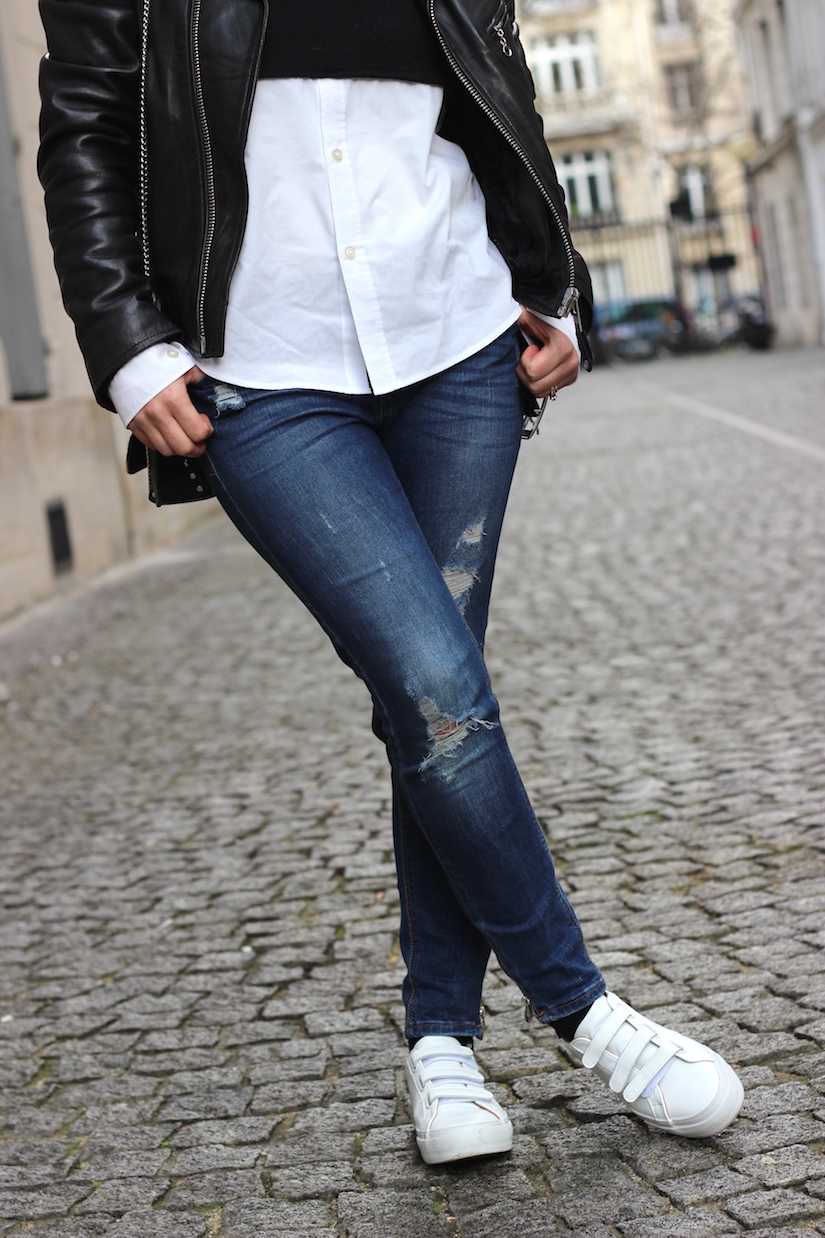 look black and white perfecto no name blog mode paris ilovediy