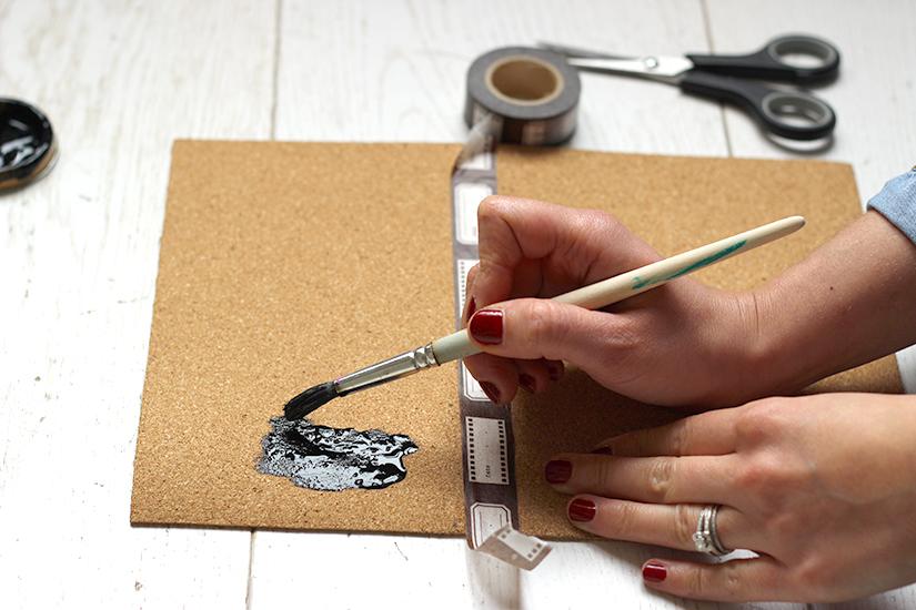peindre un tapis de souris ardoise diy
