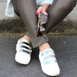 DIY : Les baskets argentées