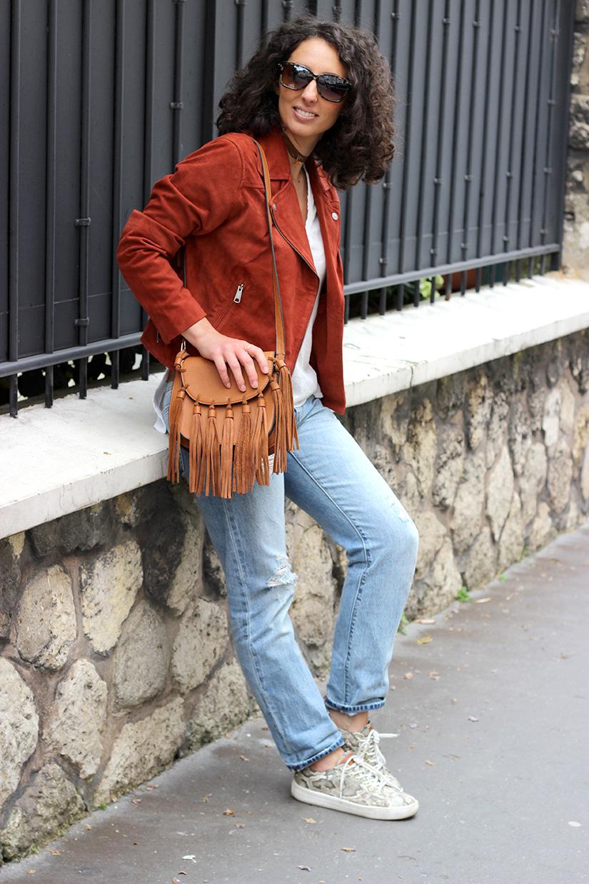 streetstyleparis veste en daim blog mode