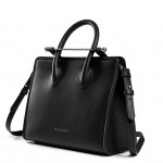 Strathberry_Product_MidiTote_Black_side_with_strap