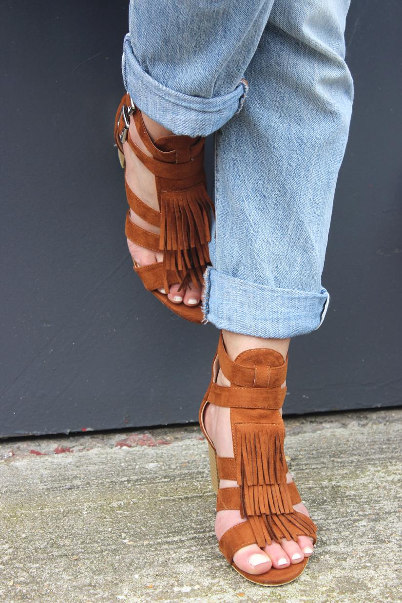 sandales a franges