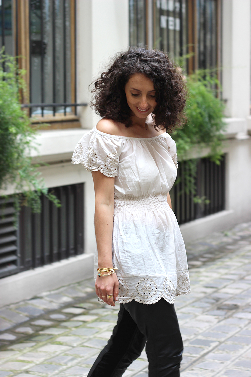 transformer une robe en top off shoulder diy