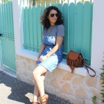 Look : La robe salopette en jeans