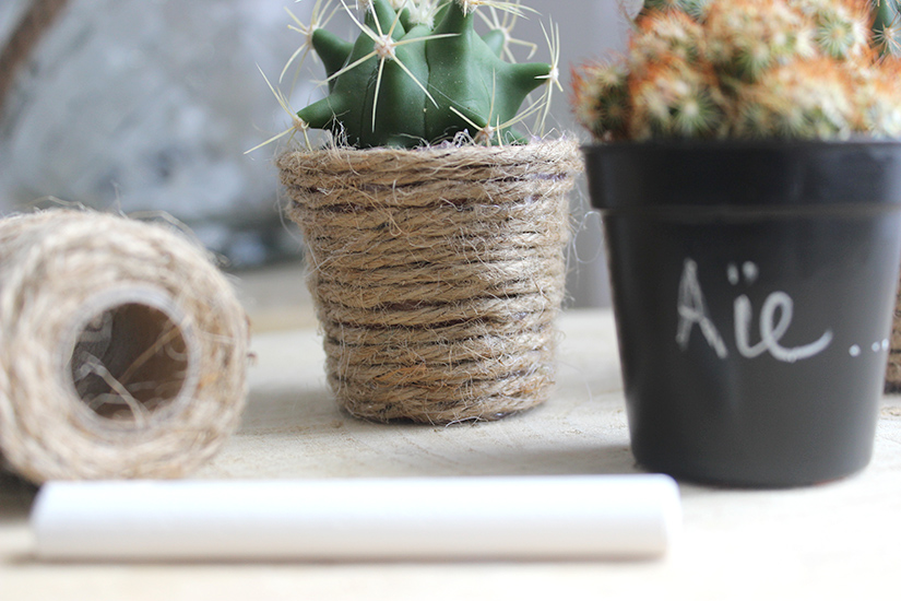 diy 2 fa ons de customiser des pots cactus blog mode bon plans et diy. Black Bedroom Furniture Sets. Home Design Ideas