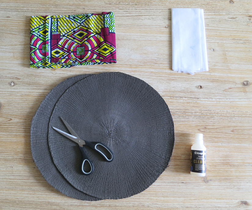 Diy le panier rond blog mode bon plans et diy for Set de table paillete
