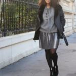 Look : la jupe plisée lamée