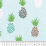 tissu-rico-design-ananas-bleu-et-vert-menthe-par-10-cm-sur-mesure-s-2