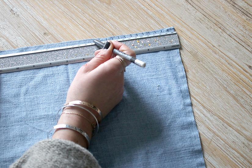 Etape 1-1 miroir facon tissage