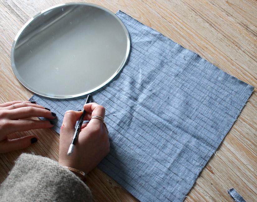 Etape 1 miroir facon tissage