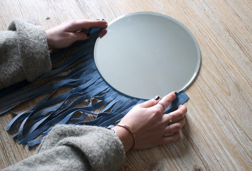 Etape 3 miroir facon tissage