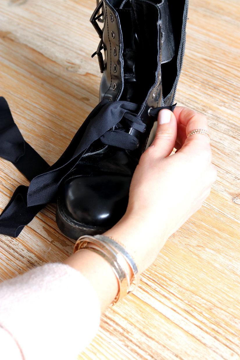 boots perles diy