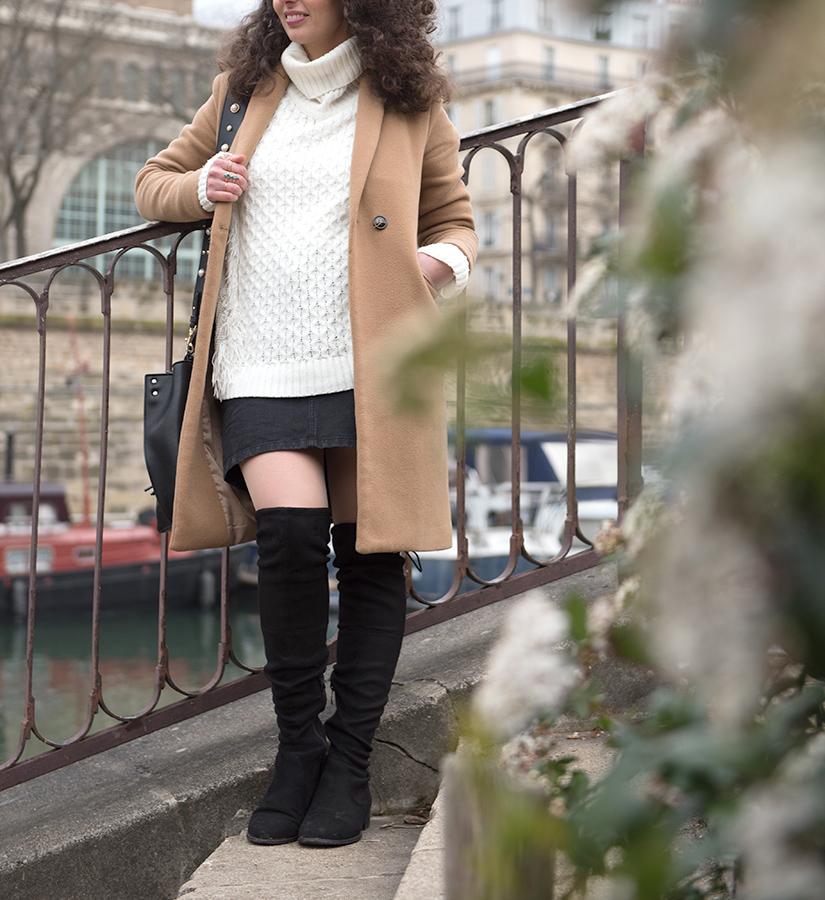 cuissardes et jupe en jeans