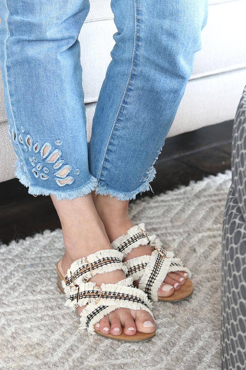 sandales a franges diy