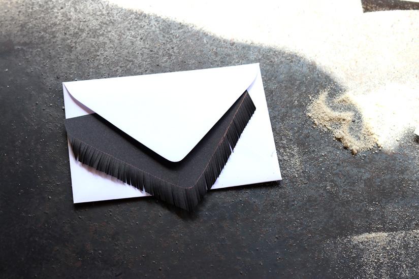 enveloppe frange facon pinata diy
