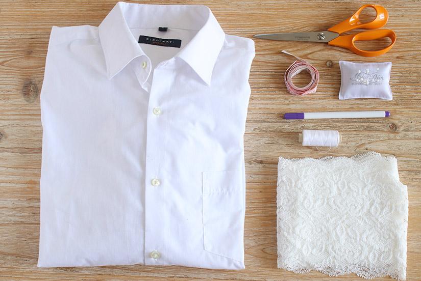 custo chemise blanche materiel