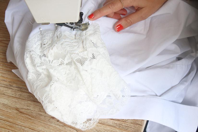 custo chemise blanche