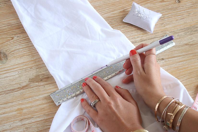 manche en dentelle chemise DIY