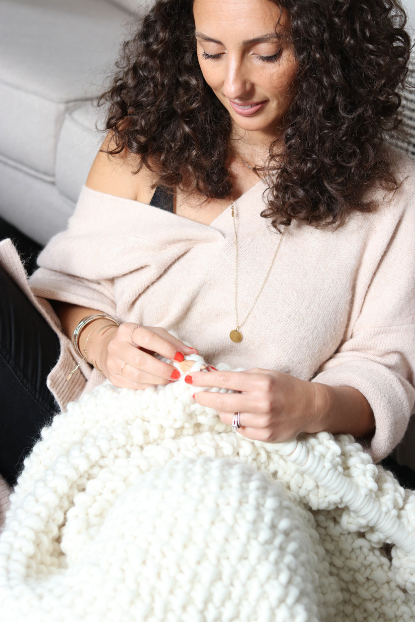 tricoter sur le moral