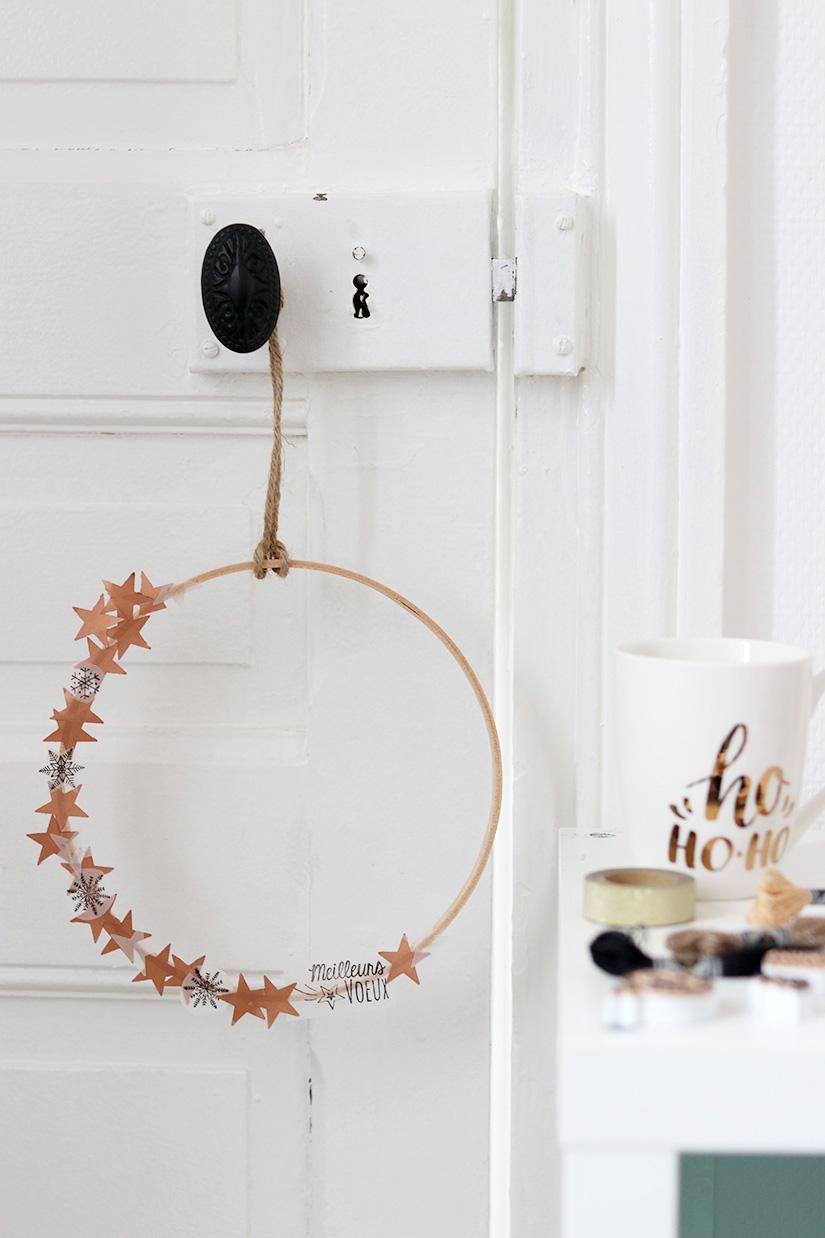 cercle couronne noel diy