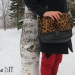 DIY un sac léopard ! DIY my leopard print purse !